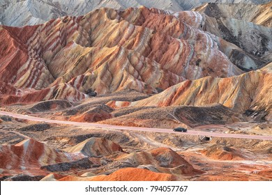 Rainbow moutain's Zhangye Danxia National Geological Park,  Zhangye - China