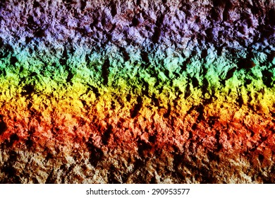 rainbow, natural phenomenon,rough surface.