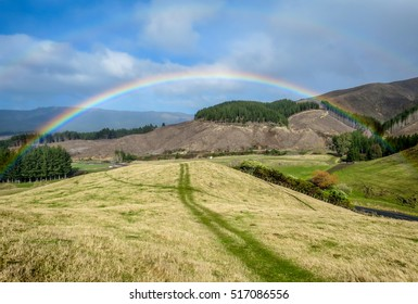 Rainbow in the North Island New Zealand