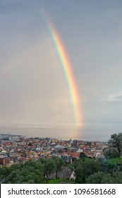 Rainbow on the Gulf of Tigullio - Ligurian Sea - Chiavari - Italy