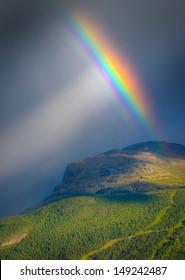 Rainbow on mountain, Hemsedal - Norway