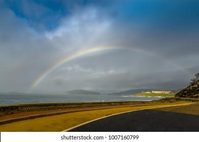 A rainbow outside Baiona - Galicia, Spain