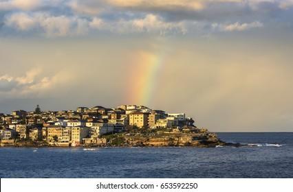 Rainbow over Bondi Beach, Sydney Australia
