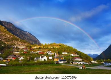 rainbow over Eidfjord, Norway