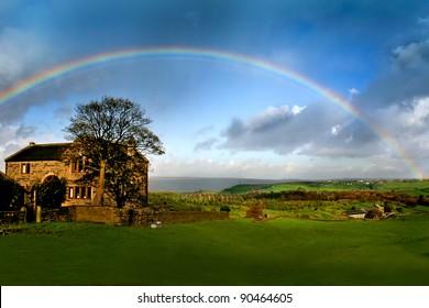 Rainbow over England