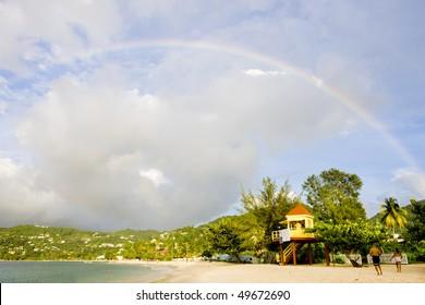 rainbow over Grand Anse Bay, Grenada