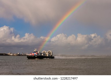 Rainbow over the hovercraft