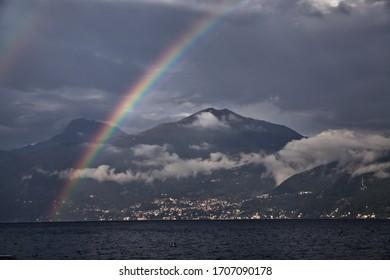 rainbow over lago di como