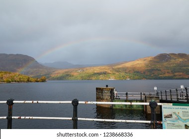 A Rainbow Over Loch Katrine, In Perthshire.