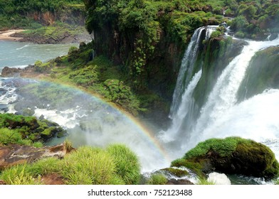 Rainbow over Salto Bossetti Falls near Iguazu