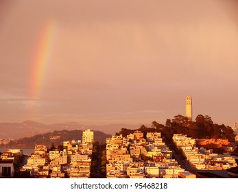 rainbow over Telegraph Hill