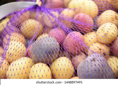 Rainbow potatoes, stock photo, stock images, this rainbow potatoes picture can be used as a background of food manufacturer.