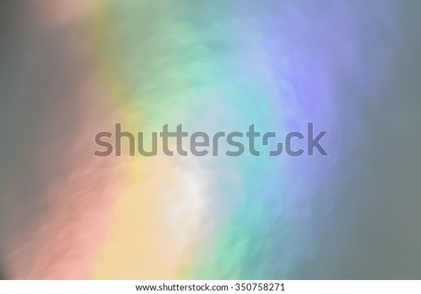 Rainbow prism macro bokeh