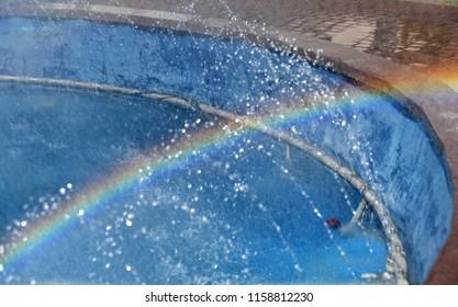 Rainbow reflection on water