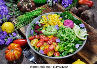 Rainbow Salad Colorful Food