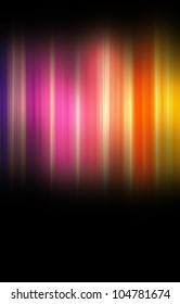 Rainbow spectrum color effect with golden glow on a black background
