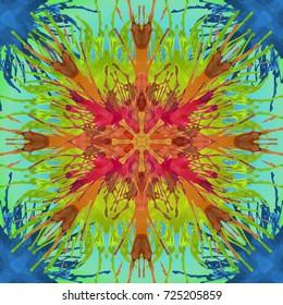 Rainbow Splatter Paint Art Background Texture