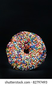 Rainbow Sprinkle Doughnut with Lots of Room For Your Type.