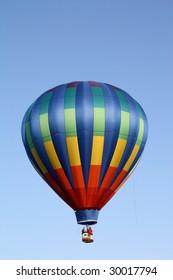 Rainbow Striped Hot Air Balloon