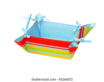 Rainbow stripes basket isolated with clipping path included
