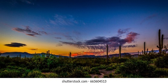 Rainbow Sunset - a colorful end of day in Cave Creek, Arizona