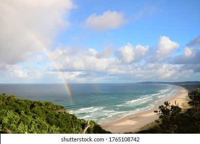 A Rainbow in Tallow Beach, Byron Bay, Australia
