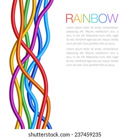 Rainbow Twisted Bright Vibrant Wares, raster illustration