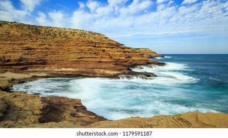 Rainbow Valley Kalbarri coast long exposure