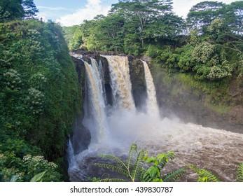 Rainbow (Waianuenue) Falls is a waterfall located in Hilo, Hawaii.