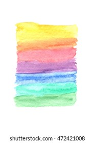 Rainbow watercolor background - ideal for quotation background, lettering background