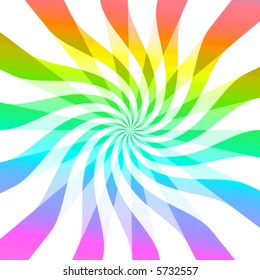 Rainbow wave burst