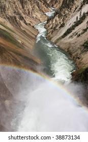 Rainbow at Yellowstone National Park