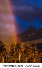 Rainbows over San Juan Mountains, Hastings Mesa, Ridgway Colorado