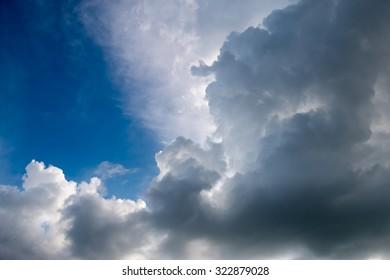 Raincloud at tropical