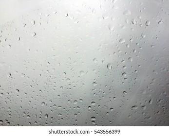 Raindrop on the glass