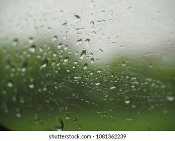 raindropps on the window