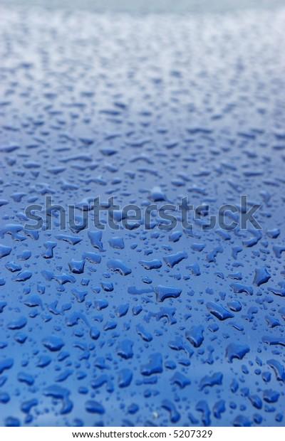 raindrops on blue