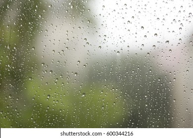 raindrops on a window, for backgrounds