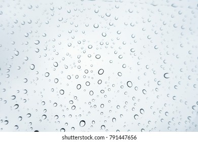 raindrops on window glass with selective focusing