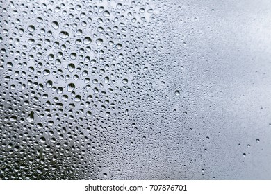 raindrops on a windowpane, small roughness