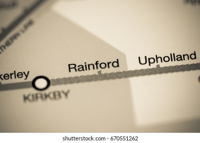 Rainford Station. Liverpool Metro map.