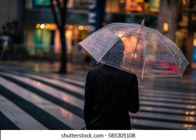 raining day in nagoya,Japan