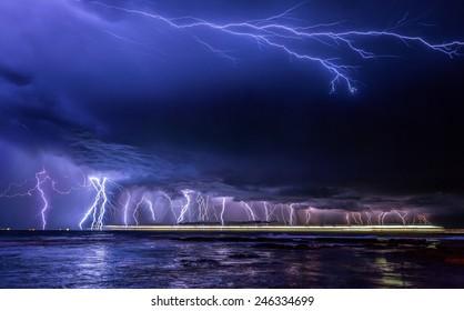 Raining down lightning