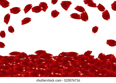 raining red rose petals - 3d rendering