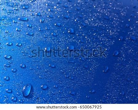 Raining water on car