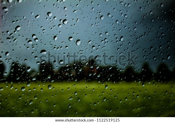 Raining Window Wallpaper Stock Photo Edit Now 1122519125