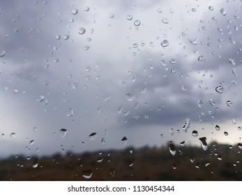 rainy day behind the windows