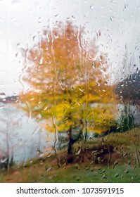 A rainy day in the lake