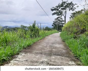 Rainy day mountain street scenerio - Shutterstock ID 1865608471