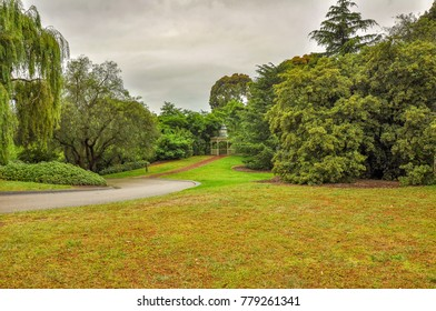 Rainy day in the Park Wilson. The Park is located on the Princes Highway in Berwick in Victoria, Australia.